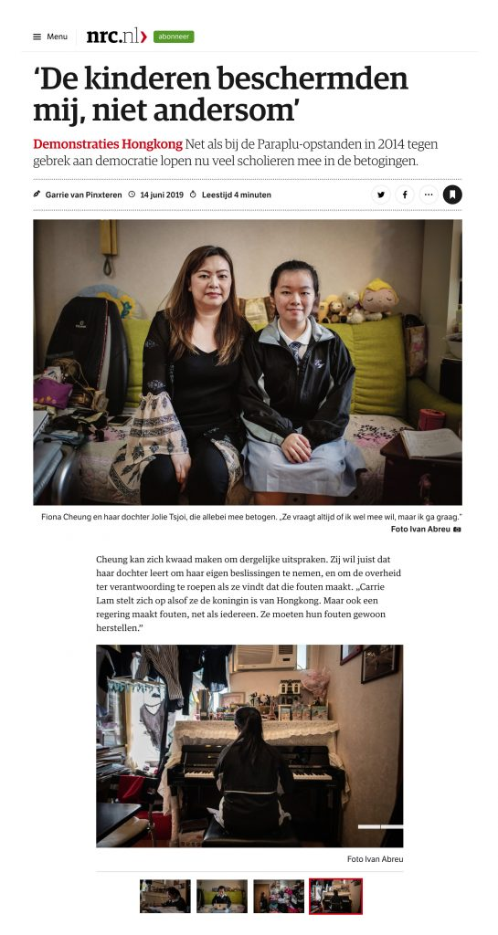 NRC Handelsblad - Politic Feature Hong Kong