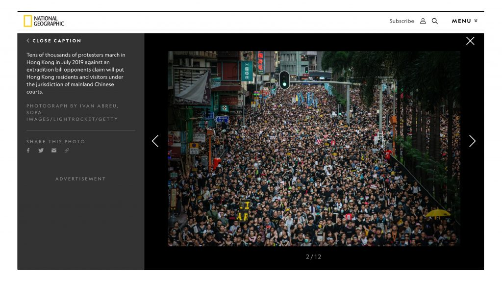 National Geographic - Hong Kong Protests