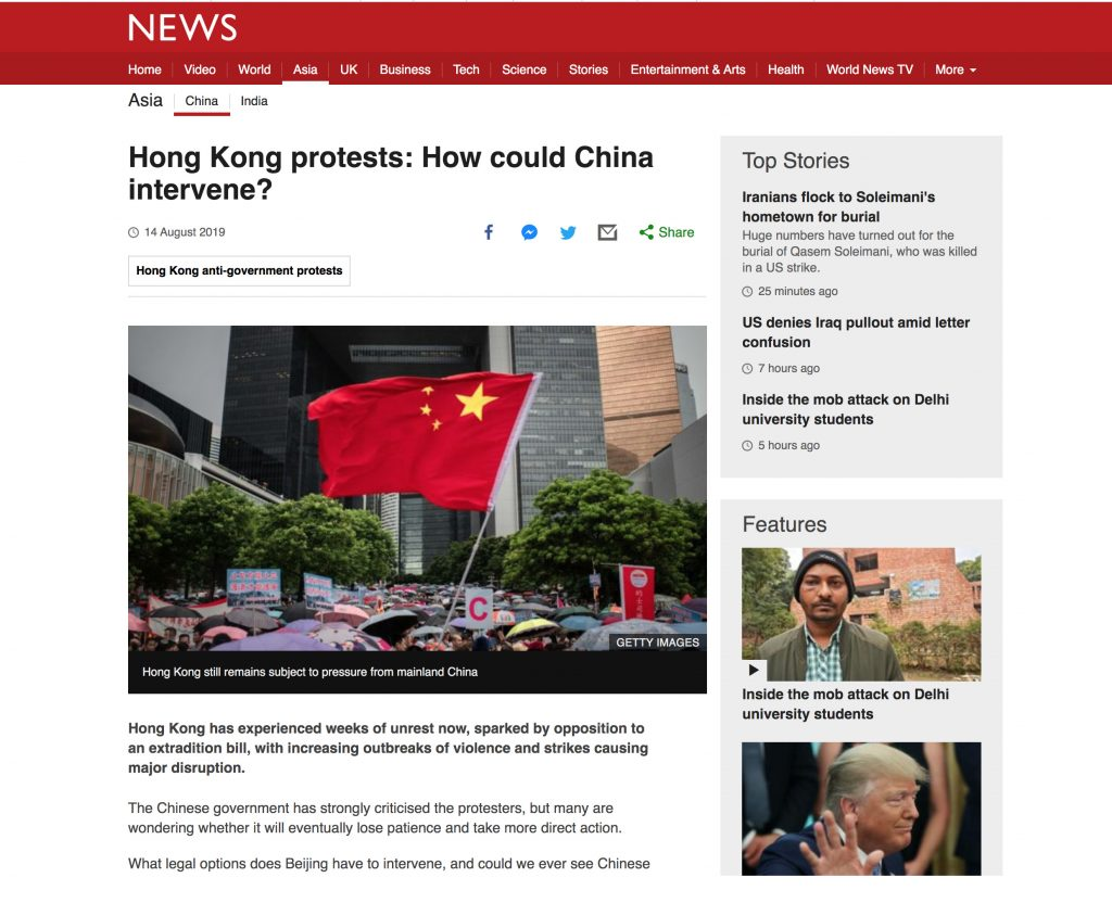 BBC News - Hong Kong Protests