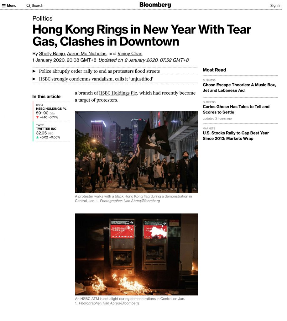 Bloomberg - Hong Kong Protests