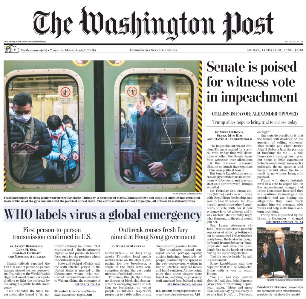 The Washington Post Cover