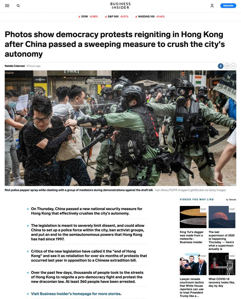 Business Insider UK - Hong Kong Protests