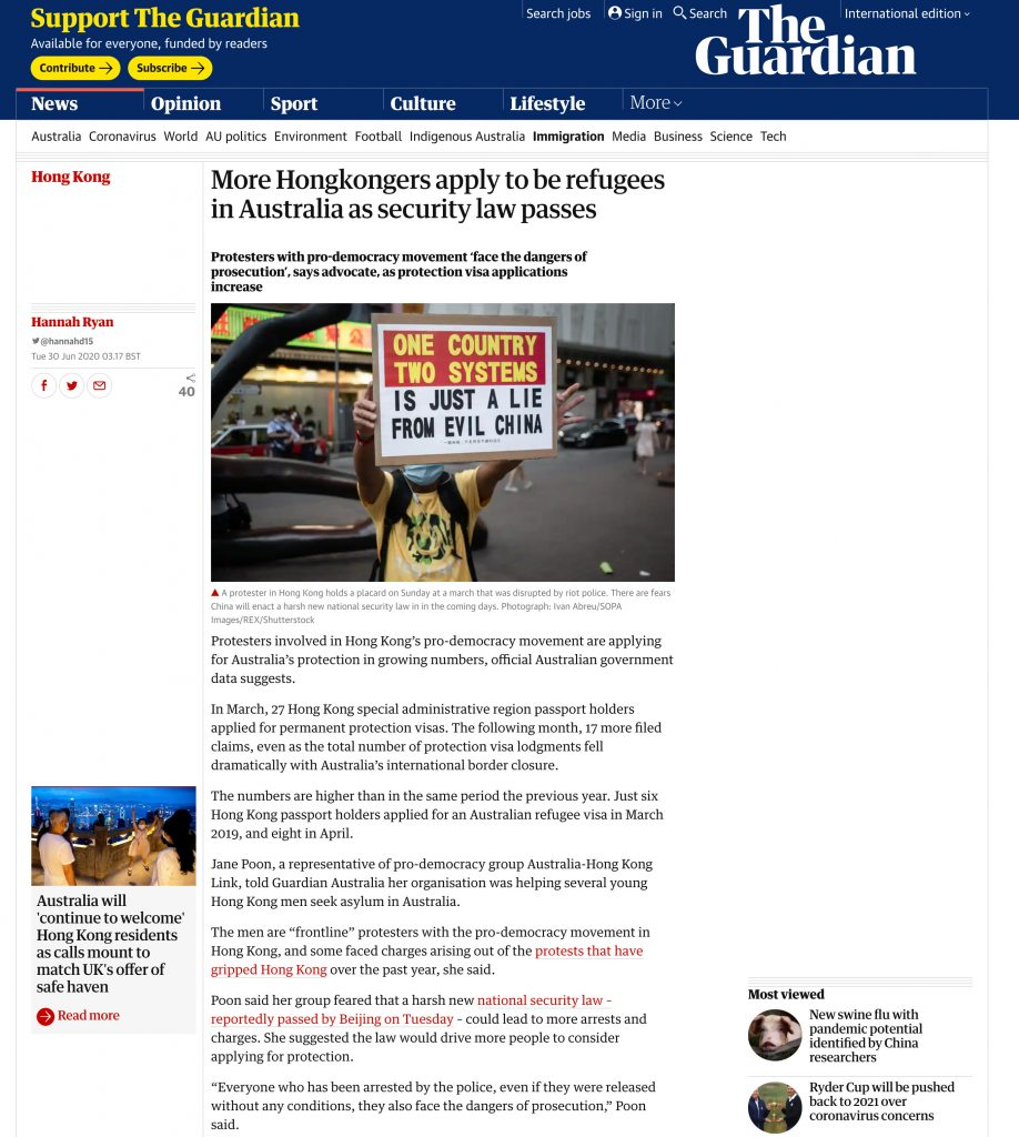 The Guardian - Hong Kong Protests